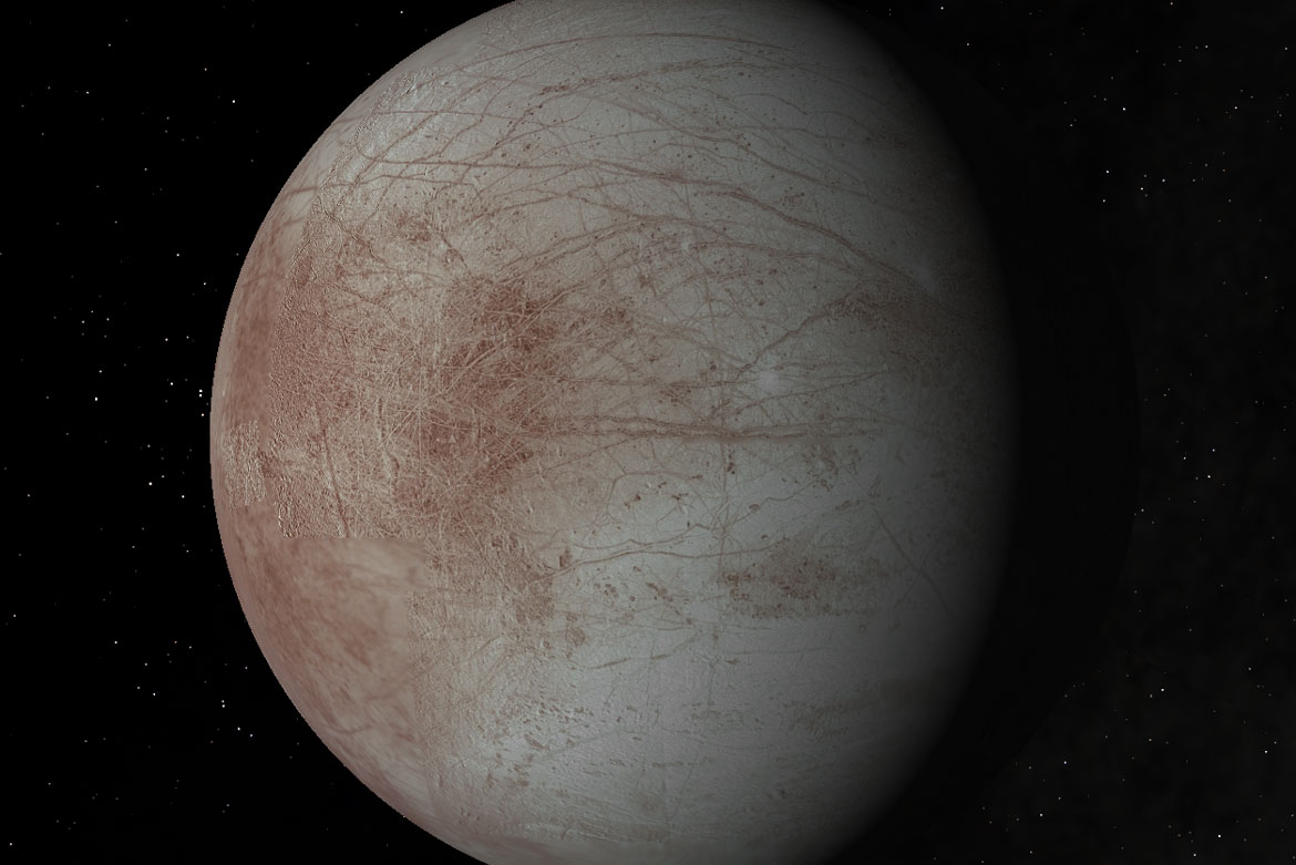 Starry Night software showing the moon Europa